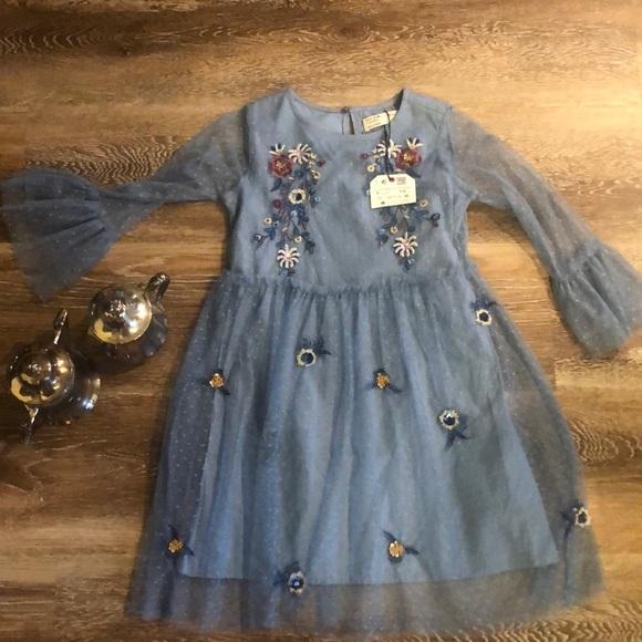 dcb3f6598 Zara Dresses | Girls Embroidered Dress | Poshmark